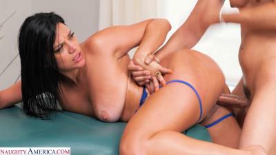 Mona Azar, gets oiled up and massaged by her friend's boyfriend!