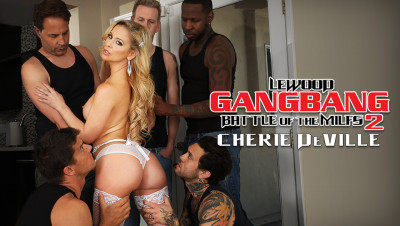 MILF Stunner Cherie's DP Gang Bang