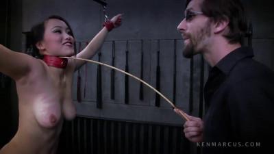Bondage, spanking, strappado and torture for horny naked slut