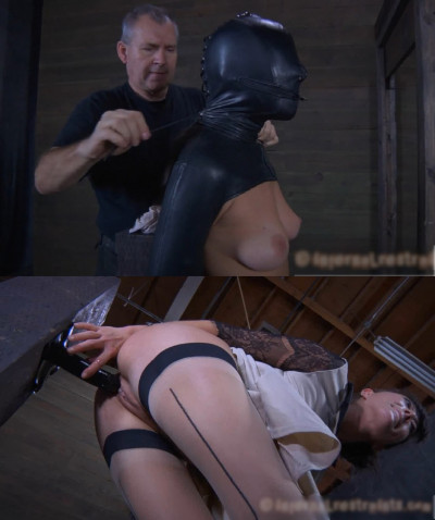 Extreme bondage, domination, spanking and torture for naked bitch (part1)