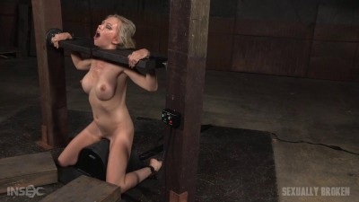 Eager Jeanie Marie Blindfolded, Bound On Sybian Facefucked Messy Destruction (2015)