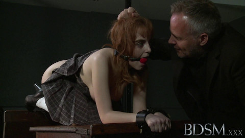 Master and the bright red hand-prints on her ass show how serious he is about making a lasting