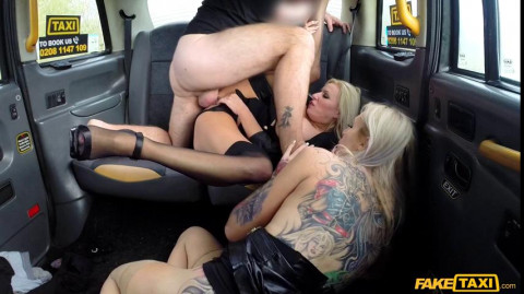 Michelle Thorne, Sophie Anderson - Busty blondes filthy taxi threesome