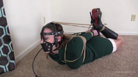 Serene Isley - Green Dress and a Tight Hogtie