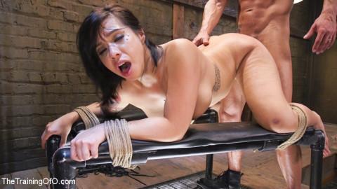 Training Big Tit Asian Anal Slave