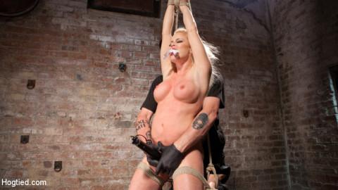 Blonde Bombshell Explodes in Extreme Bondage!!