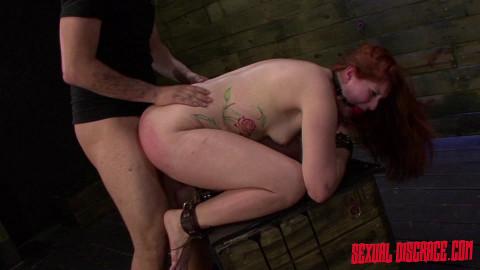 Slut Rose Red Tyrell Endures Rough Anal Sex