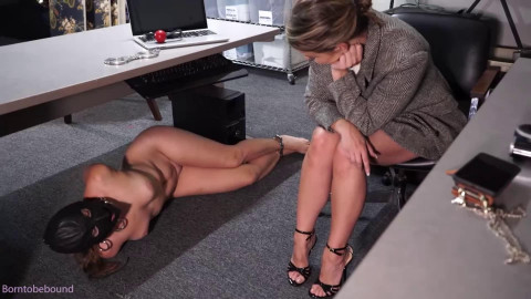 Bondage, domination and wrist and ankle bondage for nude cutie part 1