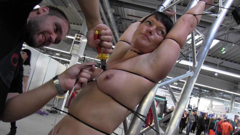 Cable tie session in Public