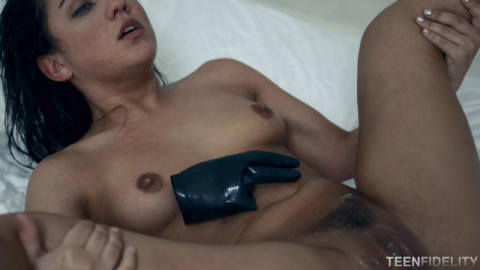 Amara Romani gets nailed by Ryan Madison in rubber gloves