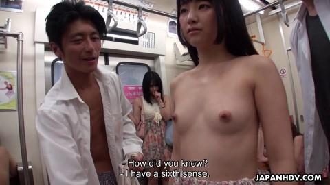 Mikan Kururugi and Tsuna Kimura in train fuck FullHD 1080p