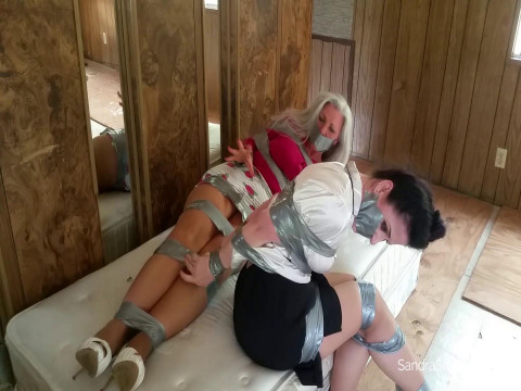 Two Captive MILFs taken from the Van, Tightly & Thoroughly Duct Taped