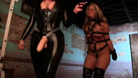 Hard bondage, domination, hogtie and torture for a hot slut