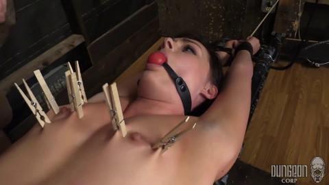 Bondage, spanking and soreness for hot hawt dark brown