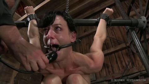 Constricted restraint bondage, strappado and torment for slutty slavegirl part ASS TO MOUTH Full HD 1080p
