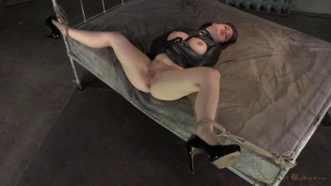 Jessica Ryan bound in a straightjacket and fucked hard and rough by 10 inch BBC!
