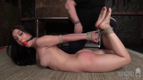 Bondage, torment, suspension and spanking for nude hotty part 1