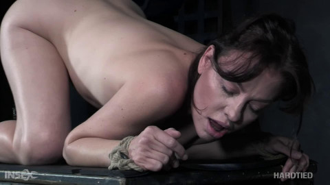 Tight restraint bondage, strappado and punishment for very sexy model part 2