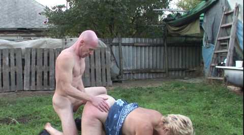 Fat granny fucked in the backyard