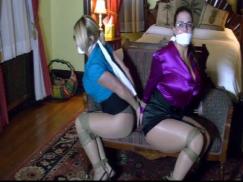 Busty ladies tied up, gagged & struggling part 1