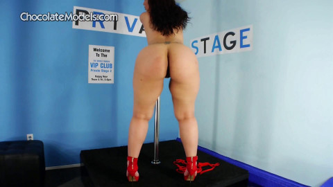 Jada Gemz 6004 Red Top Blue Shorts on Dance Stage