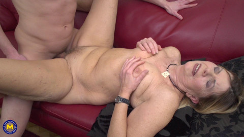 Constance - Mature lady Constance doing her toyboy FullHD 1080p