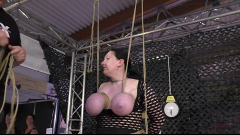BreastsinPain - Public Breast Predicament for Titslave Cat