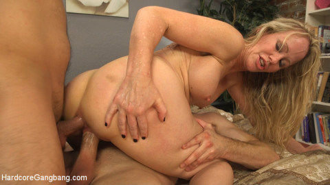 Creaming Pie: Mrs. S gets her MILF holes banged by her boys friends!