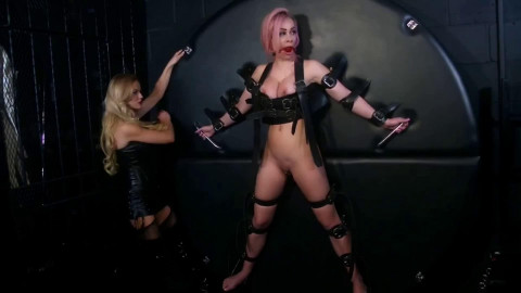 Bondage, torment and domination for very hawt blond