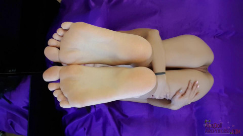 Undressed Feet Tease Close Up From Above