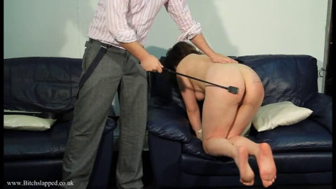 Restraint bondage, spanking, castigation and soreness for nude floozy part ASS TO MOUTH