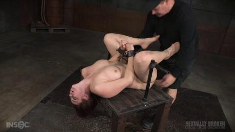 Busty Bella Rossi grand finale strict metal bondage epic 3 cock dickdown! (2016)
