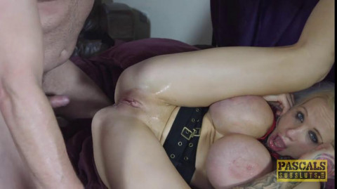 Sophie Anderson - Blonde Bimbo with giant Fake Titties gets