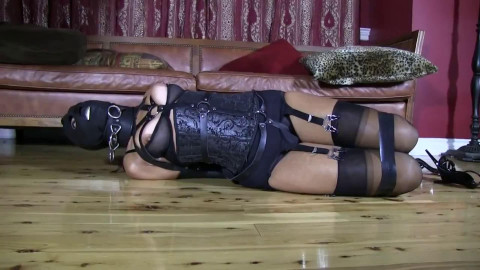 Super restraint bondage, wrist and ankle bondage and domination for charming dark brown HD 1080p