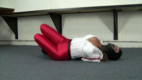 Carissa Montgomery - Red Disco Jeans, Tight Leather Gear and Gwen Hood