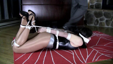 Arielle Lane - Latex Bondage and Legs for Miles