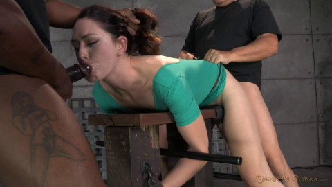 Sarah Shevon restrained used hard from both ends hard cock drooling brutal deepthroat! (2014)