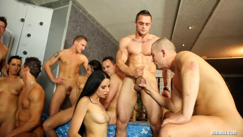 Orgy with hot bisexual