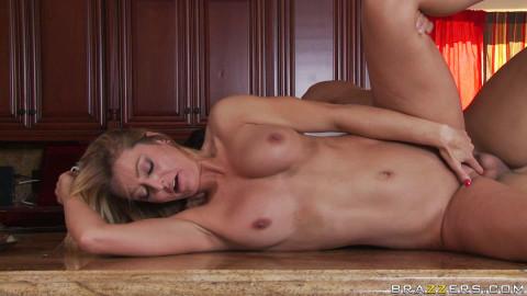 Pretty Milf Seduces A Guy In Her Kitchen