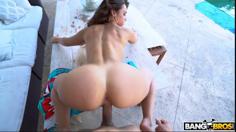 Enjoying Two Big Asses Outside