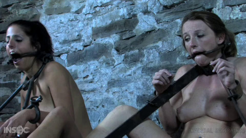 Bondage, domination and castigation for 2 sexy strumpets part 3