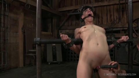 Tight bondage, strappado and torture for horny slavegirl part 2