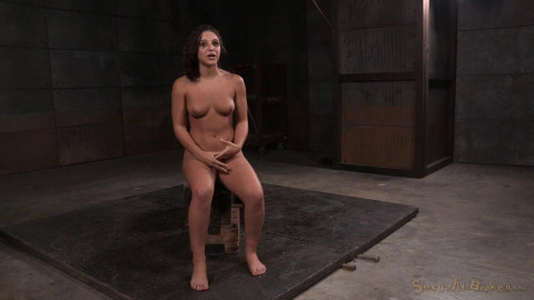 Abella Danger bound with belts doggy style