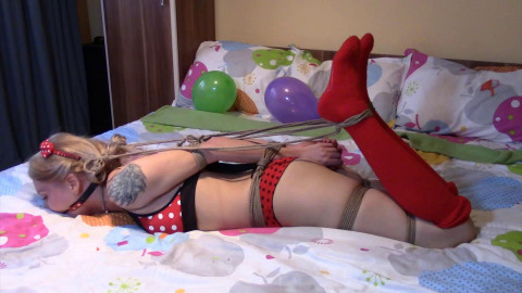 Hogtied By Her Pigtails