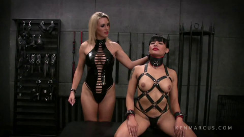 Taut tying, torment and domination for hot nude brunette hair Full HD 1080p