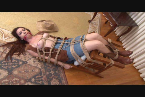 Roped and Gagged Cowgirl