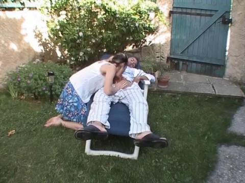 Hot backyard banging