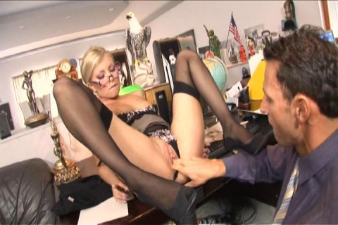 Dona takes a raging boner in her secretary ass