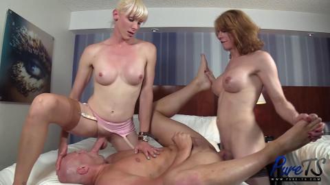Delia Delions, Staci Miguire - Delia & Staci work their big cocks