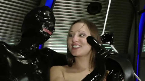 Tight bondage, domination and spanking for sexy girls in latex